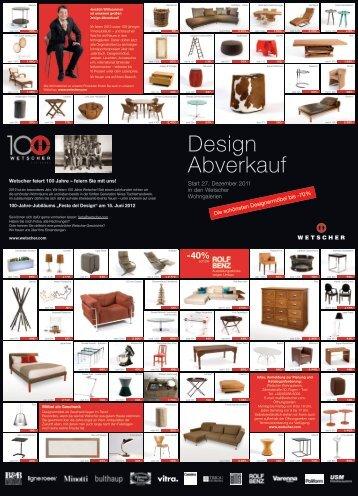 Design Abverkauf - Wetscher