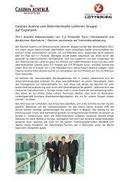 Casinos Austria und Lotterien bei ICE 2012