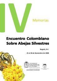 IV Encuentro Colombiano sobre Abejas Silvestres - Facultad de ...
