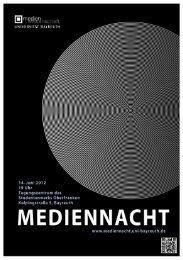 mediennacht - Medienwissenschaft Universität Bayreuth