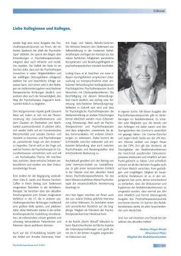 Psychotherapeutenjournal 2/2011 - medhochzwei Verlag GmbH