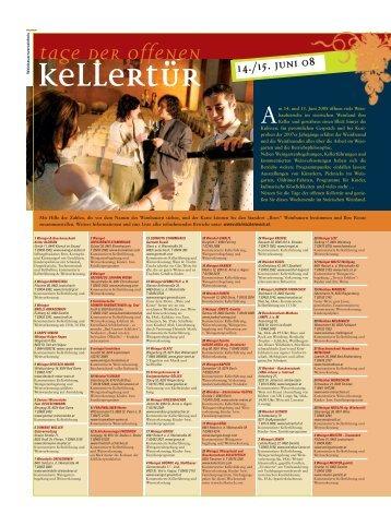 Tage der offenen Kellertür - Steirischer Wein / Die ...