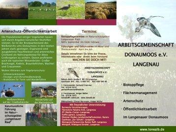 Flyer der Arbeitsgemeinschaft Donaumoos e.V.