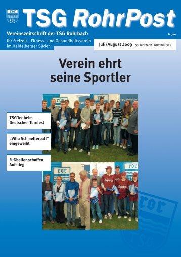 AUS DEN ABTEILUNGEN - TSG Rohrbach