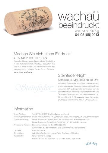 Download Weinfrühling-Flyer - Vinea Wachau