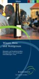 Winzer, Wein und Wohlgenuss mit Öffnungszeiten ... - Radebeul