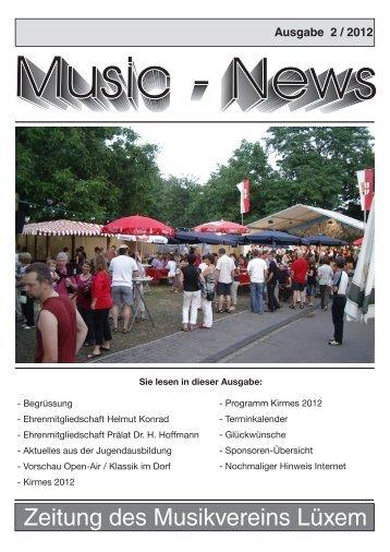 Zeitung des Musikvereins Lüxem