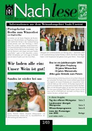 Nachlese 2003-02 - Saale-Unstrut-Tourismus e.V.