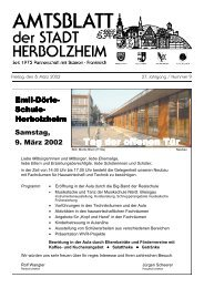 Anzeige - Stadt Herbolzheim