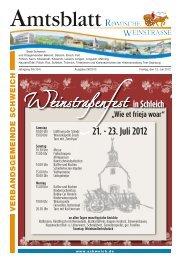21. - 23. Juli 2012 - Verbandsgemeinde Schweich