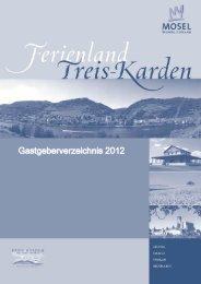 Gastgeberverzeichnis Treis-Karden 2012