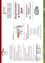 HAUSPROSPEKT & PREISLISTE 2009