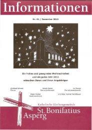 Informationen Nr. 91 - Katholische Kirchengemeinde St. Bonifatius ...