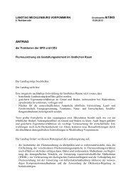 Drucksache 6/1045 - Landtag Mecklenburg Vorpommern
