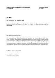 Drucksache 6/388 - Landtag Mecklenburg Vorpommern