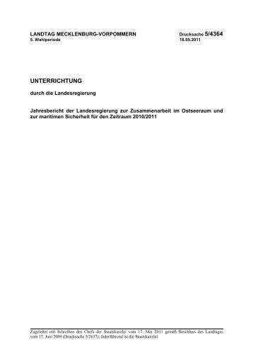 LT- Drs. 5/4364 - Landtag Mecklenburg Vorpommern