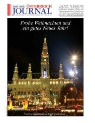 Frohe Weihnachten und ein gutes Neues Jahr! - Österreich Journal