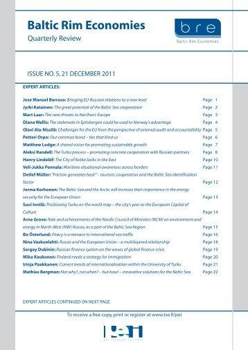 Baltic Rim Economies - Baltic Port List