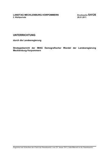 UNTERRICHTUNG - Landtag Mecklenburg Vorpommern