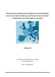 Überprüfung der Umsetzung des strategischen Tourismuskonzeptes