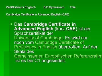 Cambridge Certificate of English - Wieso ein CMS?
