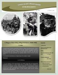 A Magyar Honvédség átfogó története (1848-1945) I. rész
