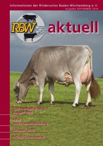 RBW-Aktuell - September 2010 - Rinderunion Baden-Württemberg ...