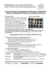 Hygiene in Lüftungs- u. Klimaanlagen (VDI 6022 Typ A / ÖNORM ...
