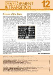 Development & Transition, Issue 12, April 2009 - Rcpar.org