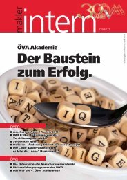 Der Baustein zum Erfolg. - Österreichischer Versicherungsmaklerring