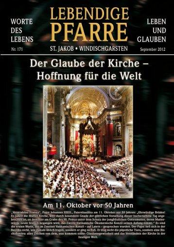 Pfarrbrief 171 - 2012 - Lebendige Pfarre - St.Jakob Windischgarsten ...