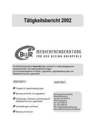 Tätigkeitsbericht 2002 - Bezirksjugendring Oberpfalz