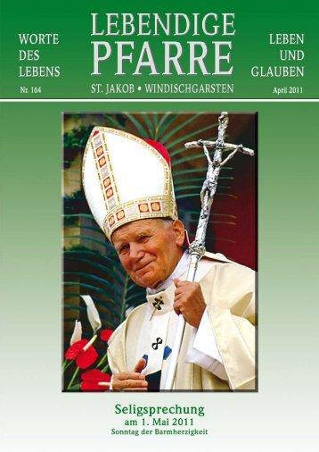 Pfarrbrief 164 - 2011 - Lebendige Pfarre - St.Jakob Windischgarsten ...