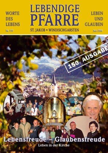 Pfarrbrief 150 - Lebendige Pfarre - St.Jakob Windischgarsten ...
