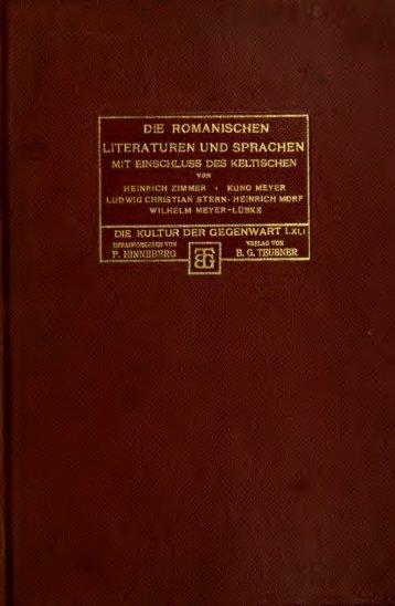 Die romanischen Literaturen und Sprachen; mit Einschluss des ...