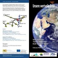 Flyer Vortragsreihe 2012 - GEO-Zentrum an der KTB