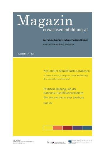 Politische Bildung und der Nationale Qualifikationsrahmen. Über Sinn