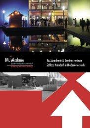 Folder BAUAkademie - Landesinnung Bau