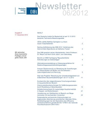 Bauregelliste A, Bauregelliste B und Liste C - Deutsches Institut für ...