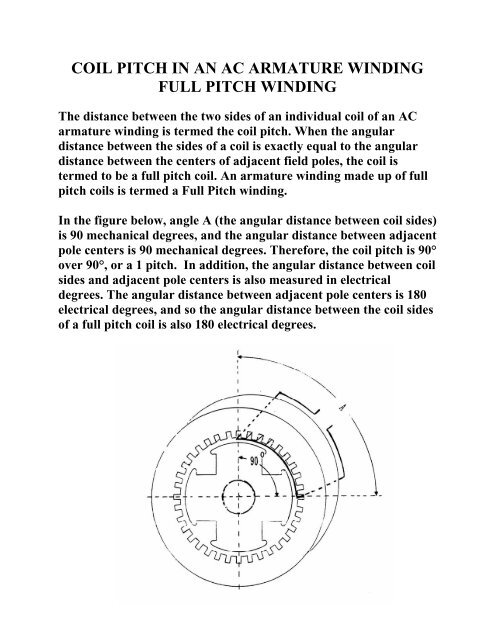 Coil Pitch In An