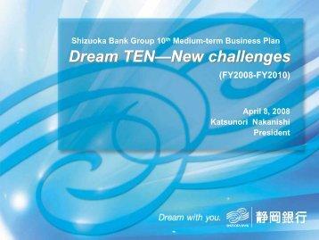 Shizuoka Bank Group 10th Medium-term Business Plan