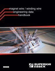 magnet wire / winding wire engineering data ... - Superior Essex
