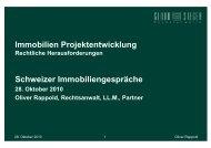 Immobilien Projektentwicklung Schweizer ... - Gloor & Sieger