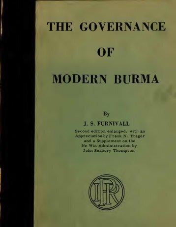Governance of modern Burma - Online Burma Library