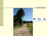 A long and winding road: RDA from principles to practice