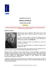 Wilhelm OSTWALD - Free