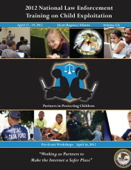 2012 National Law Enforcement Training On Child - ICAC Home