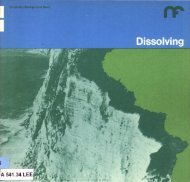Chemistry Background Series;Dissolving - National STEM Centre