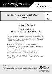 Kollektion Naturwissenschaften und Technik Wilhelm Ostwald ...