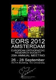 download scientific programme - EORS 2012 Amsterdam